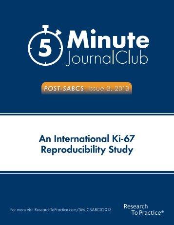 An International Ki-67 Reproducibility Study