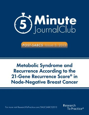 in Node-Negative Breast Cancer
