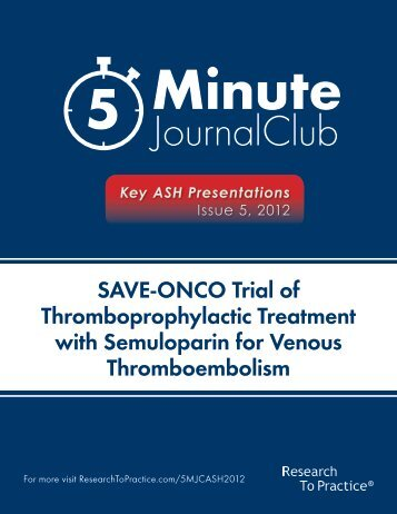 with Semuloparin for Venous Thromboembolism