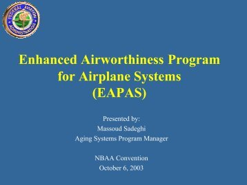 EAPAS - Center for Advanced Aviation System Development