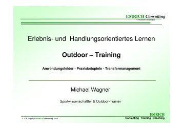 Erlebnis- und Handlungsorientiertes Lernen Outdoor – Training
