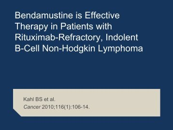 Follicular and indolent lymphoma - Research To Practice