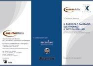 Il fascicolo sanitario elettronico a tutti gli italiani