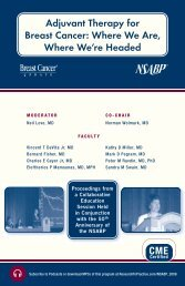 Adjuvant Therapy for Breast Cancer Where We Are Where We're Headed