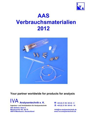 AAS Verbrauchsmaterialien 2012 Your partner worldwide for ...