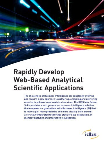 Rapidly Develop Web-Based Analytical Scientific Applications