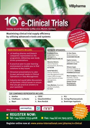 e-Clinical Trials