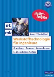 Werkstofftechnologie für Ingenieure - 6., überarb ... - Pearson Studium