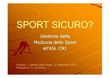 Gestione della Medicina dello Sport all'ASL CN1