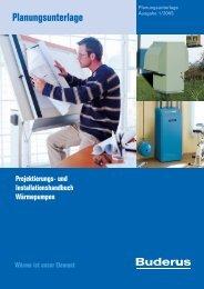 Planungsunterlage Projektierungs- und ... - Buderus
