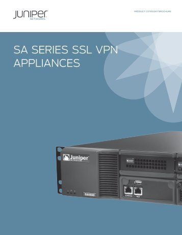 SA SERIES SSL VPN APPLIANCES