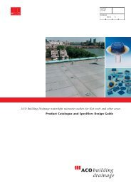 ACO Building Drainage watertight rainwater outlets for flat