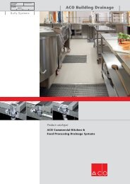ACO Commercial Kitchen & Food Processing Drainage Systems