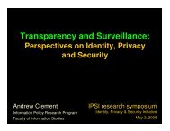 Transparency and Surveillance