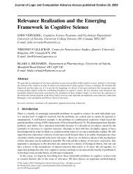 Relevance Realization and the Emerging Framework in Cognitive Science