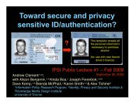 sensitive ID/authentication?
