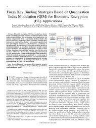 (QIM) for Biometric Encryption - Identity, Privacy and Security Institute