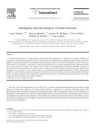 Intelligence and the tuning-in of brain networks - ResearchGate