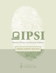 Identity Privacy and Security Institute