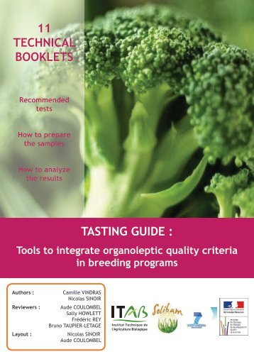 11 TECHNICAL BOOKLETS TASTING GUIDE