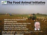 The Food Animal Initiative