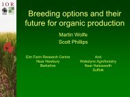 future for organic production