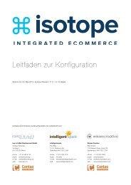 Isotope - Leitfaden zur Konfiguration - Isotope eCommerce
