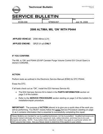 2006 altima service manual