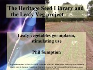 Genetic resources and plant breeding: reporting from the Leafy ...