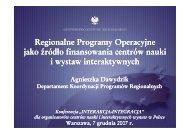 ministerstwo rozwoju regionalnego - Centrum Nauki Kopernik
