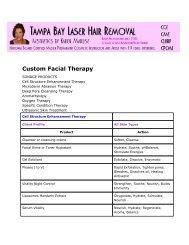 Custom Facial Therapy - Tampa Bay Laser Hair Removal - Tampa