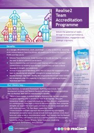 Realise2 Team Accreditation Programme