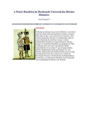 A Práxis Brasileira da Declaração Universal dos Direitos Humanos