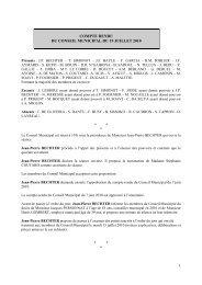 COMPTE RENDU CM 19 juillet 2010 - Corbeil-Essonnes