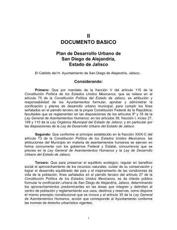 II DOCUMENTO BASICO - Gobierno del Estado de Jalisco