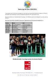 Dame Liga All Stars 1999-2011 - Håndbold Spiller Foreningen.dk