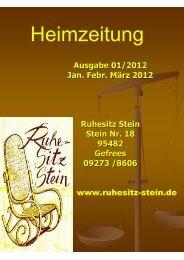 Heimzeitung Nr.3 - Ruhesitz Stein