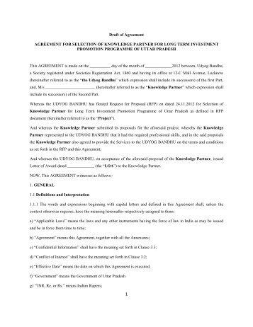 Modified Draft of Agreement 5-12-2012 - Udyog Bandhu