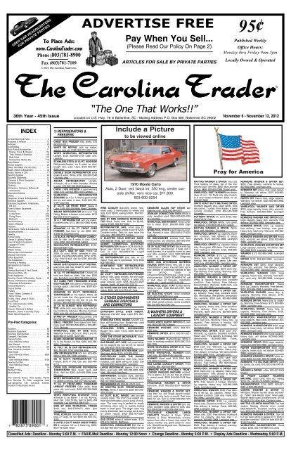 36 43 Pay When You Sell Ads (Pages 1 30).qxd The Carolina