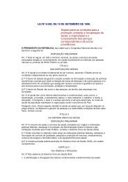 Lei Federal 8.080 - Prefeitura Municipal de São José dos Campos