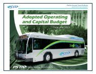 Pinellas Suncoast Transit Authority ADOPTED FY 2013 BUDGET