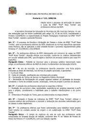 SECRETARIA MUNICIPAL DE EDUCAÇÃO Portaria n.º 121 /SME ...