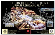 CLIFTON HEIGHTS / UC JOINT URBAN RENEWAL PLAN