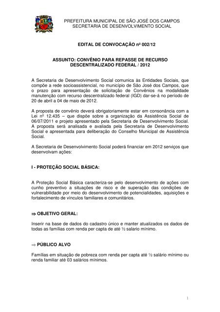 C - Prefeitura Municipal de São José dos Campos