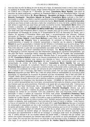Ata número 05 - Prefeitura Municipal de São José dos Campos