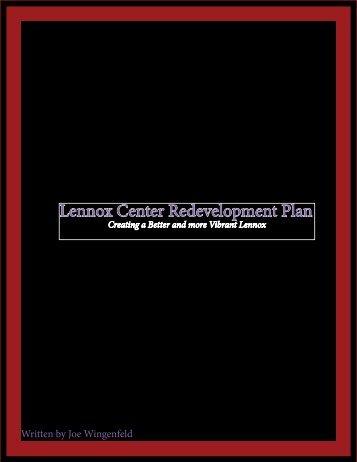 Lennox Center Redevelopment Plan