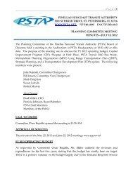 pinellas suncoast transit authority 3201 scherer drive, st - PSTA
