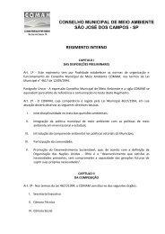 SÃO JOSÉ DOS CAMPOS - SP REGIMENTO INTERNO
