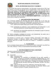 SECRETARIA MUNICIPAL DE EDUCAÇÃO EDITAL DE ...