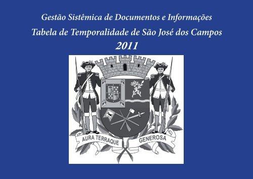 Tabelas de temporalidade do município de São José dos Campos